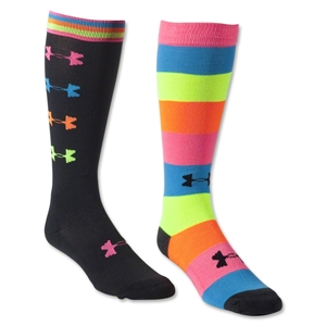 Under Armour Women's Recur Over the Calf Sock 2 Pack (Multi)