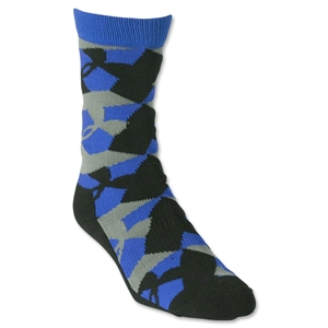 Under Armour GEO Heatgear Crew Sock (Blk/Royal)