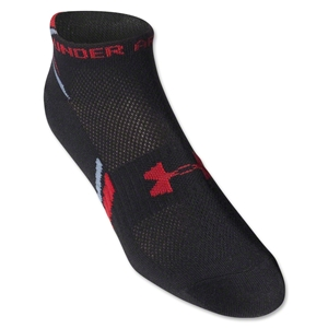 Under Armour Phantom Heatgear Low Cut Sock 3-Pack (Blk/Red)