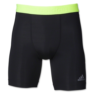 adidas TechFit Compression Dig Short (Blk/Yellow)