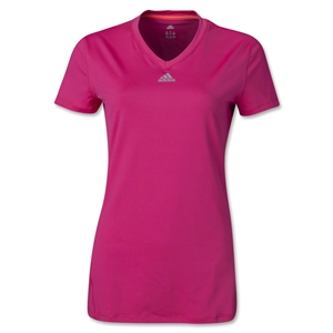 adidas Women's TechFit Training Top (Fuchsia)