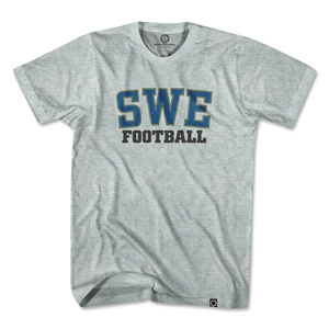 Sweden SWE Soccer T-Shirt (Gray)