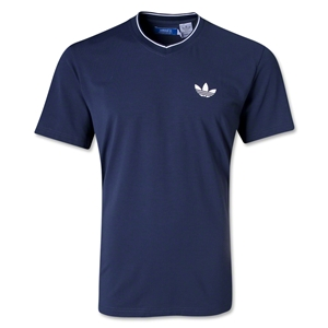 adidas Originals Ultimate V-Neck Trefoil T-Shirt (Navy)