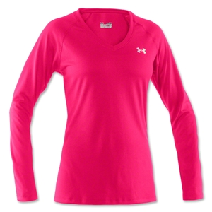 Under Armour Women's Tech Long Sleeve T-Shirt (Neon Pink)