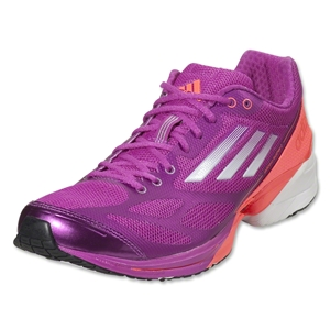 adidas Women's adizero Feather 2 Running Shoe (Vivid Pink/Running White)