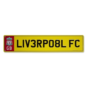 Liverpool Number Plate Sign