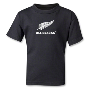 All Blacks Fern Logo Kids T-Shirt (Black)