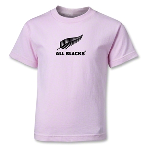 All Blacks Fern Logo Kids T-Shirt (Pink)