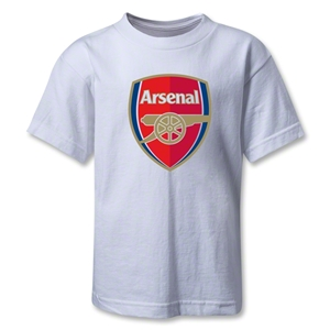 Arsenal Crest Kids T-Shirt (White)