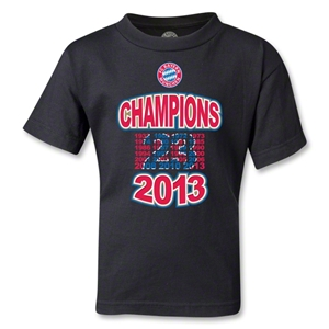 Bayern Munich 2013 Kids Champion T-Shirt (Black)