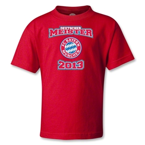 Bayern Munich 2013 Kids Deutscher Meister T-Shirt (Red)