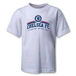 Chelsea FC Distressed Kids T-Shirt (White)