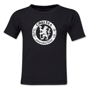 Chelsea Distressed Emblem Kids T-Shirt (Black)