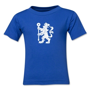 Chelsea Distressed Lion Kids T-Shirt (Royal)