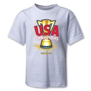 USA CONCACAF Gold Cup 2013 Champions Kids T-Shirt (White)