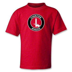 Charlton Athletic Crest Kids T-Shirt (Red)