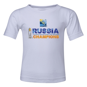 Russia FIFA Beach World Cup 2013 Winners Kid's T-Shirt (White)