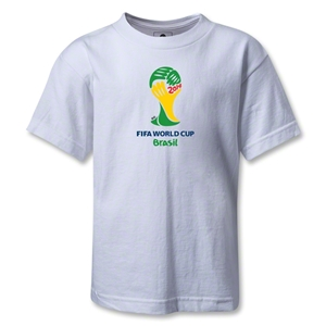 2014 FIFA World Cup Brazil(TM) Emblem Kids T-Shirt (White)