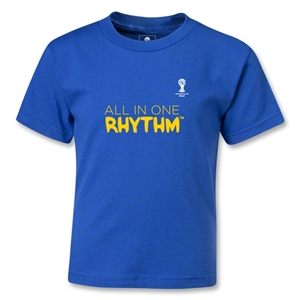 2014 FIFA World Cup Brazil(TM) Kids All In One Rhythm T-Shirt (Royal)