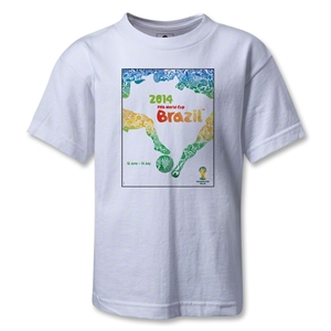 2014 FIFA World Cup Brazil(TM) Official Event Poster Kid's T-Shirt (White)