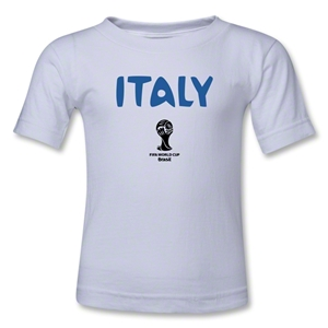 Italy 2014 FIFA World Cup Brazil(TM) Kids Core T-Shirt (White)