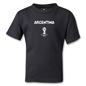 Argentina 2014 FIFA World Cup Brazil(TM) Kids Core T-Shirt (Black)