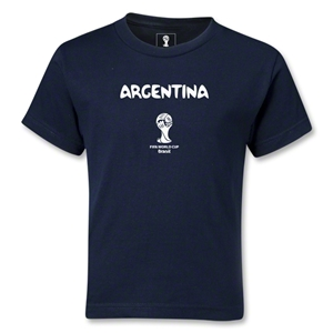 Argentina 2014 FIFA World Cup Brazil(TM) Kids Core T-Shirt (Navy)