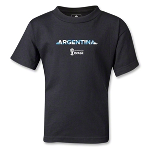 Argentina 2014 FIFA World Cup Brazil(TM) Kids Palm T-Shirt (Black)