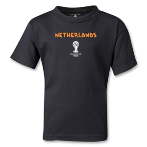 Netherlands 2014 FIFA World Cup Brazil(TM) Kids Core T-Shirt (Black)