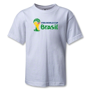2014 FIFA World Cup Brazil(TM) Kids Landscape Emblem T-Shirt (White)