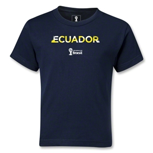 Ecuador 2014 FIFA World Cup Brazil(TM) Kids Palm T-Shirt (Navy)