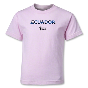 Ecuador 2014 FIFA World Cup Brazil(TM) Kids Palm T-Shirt (Pink)