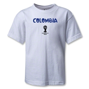 Colombia 2014 FIFA World Cup Brazil(TM) Kids Core T-Shirt (White)