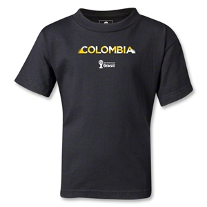 Colombia 2014 FIFA World Cup Brazil(TM) Kids Palm T-Shirt (Black)