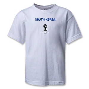 South Korea 2014 FIFA World Cup Brazil(TM) Kids Core T-Shirt (White)
