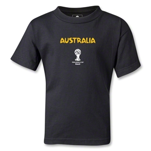 Australia 2014 FIFA World Cup Brazil(TM) Kids Core T-Shirt (Black)