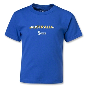 Australia 2014 FIFA World Cup Brazil(TM) Kids Palm T-Shirt (Royal)