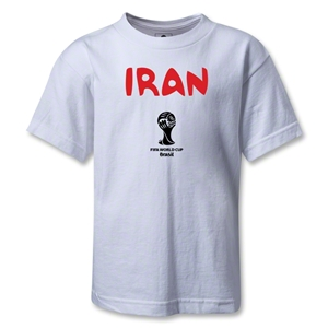 Iran 2014 FIFA World Cup Brazil(TM) Kids Core T-Shirt (White)