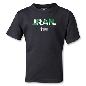 Iran 2014 FIFA World Cup Brazil(TM) Kids Palm T-Shirt (Black)