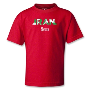 Iran 2014 FIFA World Cup Brazil(TM) Kids Palm T-Shirt (Red)