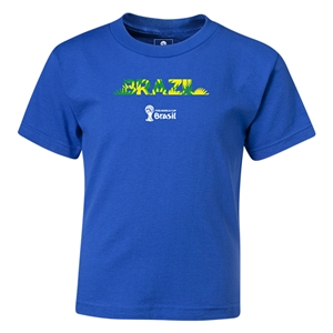 Brazil 2014 FIFA World Cup Brazil(TM) Kids Palm T-Shirt (Royal)