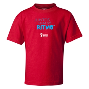 2014 FIFA World Cup Brazil(TM) Kids Portugese All In One Rhythm T-Shirt (Red)