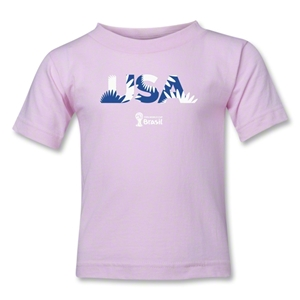 USA 2014 FIFA World Cup Brazil(TM) Kids Palm T-Shirt (Pink)