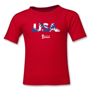 USA 2014 FIFA World Cup Brazil(TM) Kids Palm T-Shirt (Red)