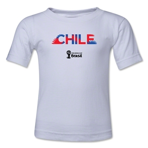 Chile 2014 FIFA World Cup Brazil(TM) Kids Palm T-Shirt (White)