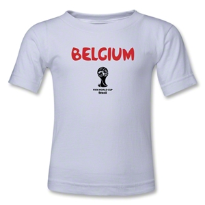 Belgium 2014 FIFA World Cup Brazil(TM) Kids Core T-Shirt (White)