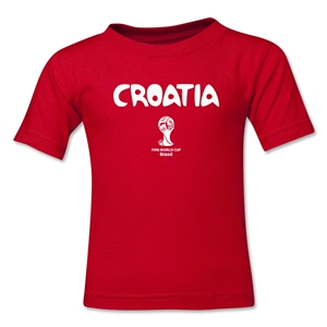 Croatia 2014 FIFA World Cup Brazil(TM) Kid's Core T-Shirt (Red)