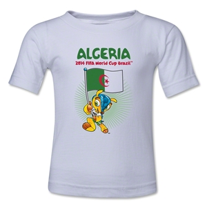 Algeria 2014 FIFA World Cup Brazil(TM) Kids Mascot Flag T-Shirt (White)
