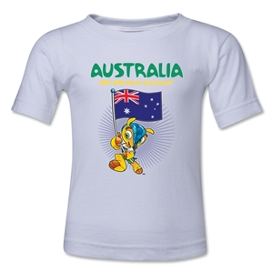 Australia 2014 FIFA World Cup Brazil(TM) Kids Mascot Flag T-Shirt (White)