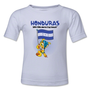 Honduras 2014 FIFA World Cup Brazil(TM) Kids Mascot Flag T-Shirt (White)